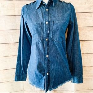 NSF Chambray button up top
